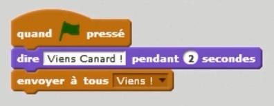 Comment utiliser les messages, créer des conversations entre mes personnages avec Scratch ? Interchat_0